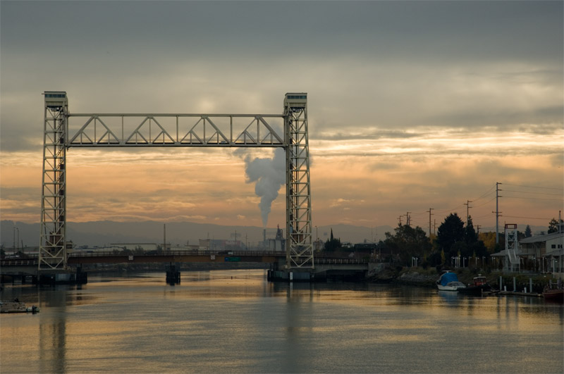 Fruitvale Bridge, Oakland Estuary, California