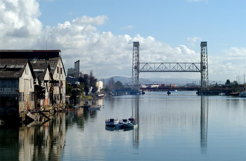 Fruitvale Bridge and the Jingletown Shore, Oakland, California