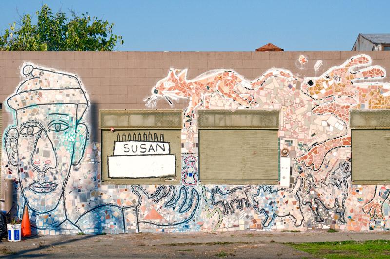Mosaic art, Jingletown, Oakland, California