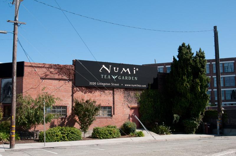 The Numi Tea Garden on Livingston Street, Oakland.