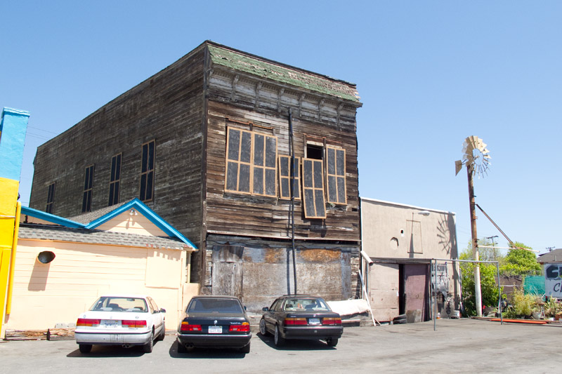 The old Fruitvale Hotel, San Leandro Street, Oakland.