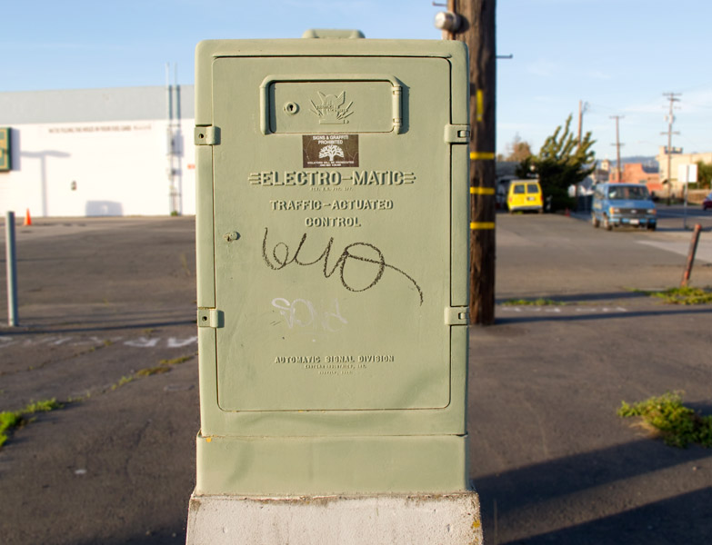 Electro-Matic light controller, Kennedy Street and 23rd Avenue, Oakland.