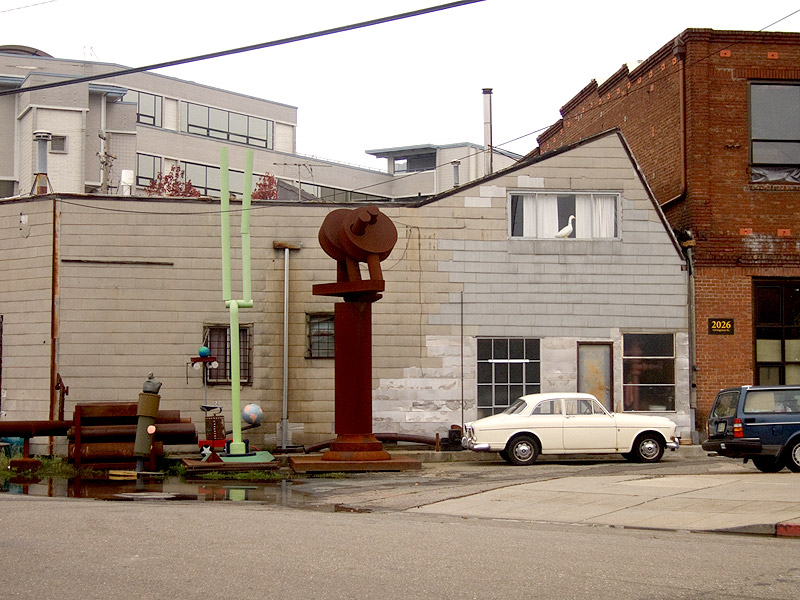 Charlie Wagner's workshop on Livingston Avenue, Oakland, California.
