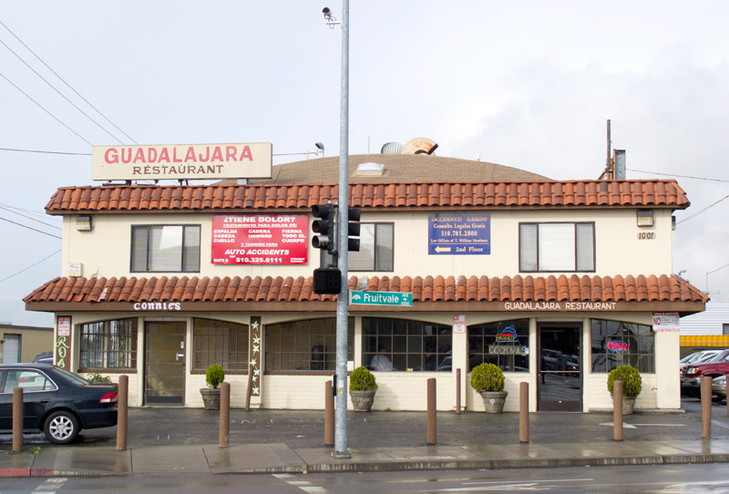 The Guadalajara restaurant, Fruitvale, Oakland.
