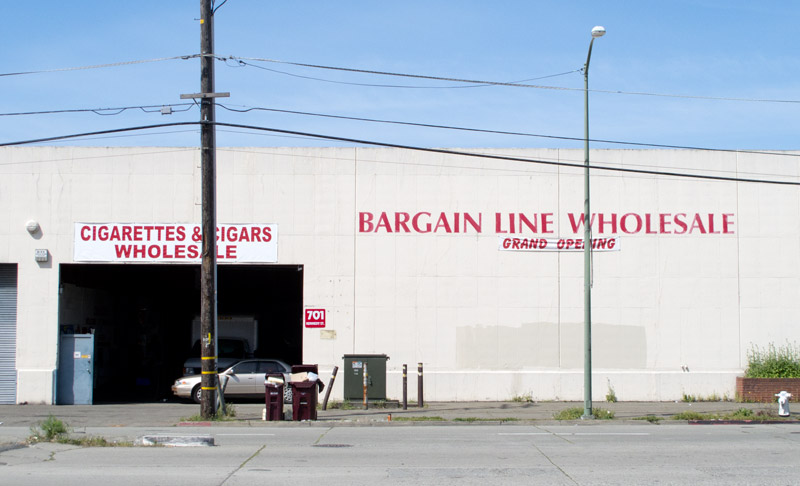 Bargain Line Wholesale, Kennedy Street, Oakland.