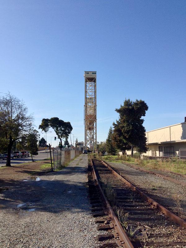 Fruitvale Bridge from Fruitvale Avenue, Jingletown, Oakland