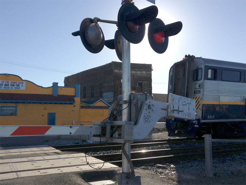 Fruitvale Railroad Crossing, Fruitvale, Oakland, CA.
