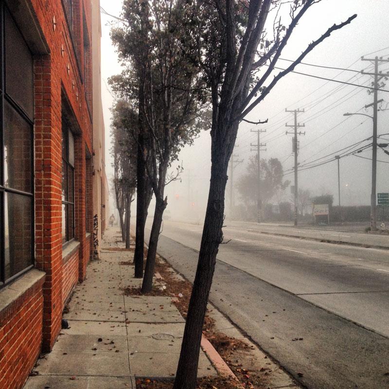 A cold commute down Kennedy Street, Jingletown, Oakland
